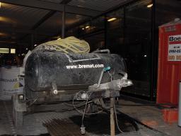 Opstelling op het perrson voor de start van de sneldrogende cementdekvloer.